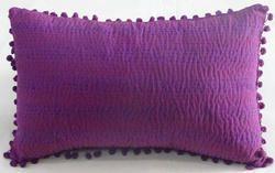 Decorative Cotton Katha Pillow Cover