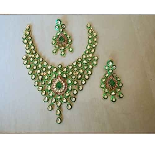 Gold Plated Indian Jewellery Set Unshaped Kundan at Rs 23000 1set