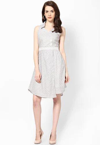Sleeve Less Multi Color Skater Dress - Taurus Clothing Co. Pvt. Ltd ... 9f72e6046