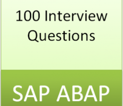 100 Interview Questions For SAP ABAP in Hyderabad, IT Learn More ...