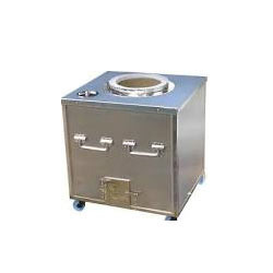 Own Brand Round Or Square Stainless Steel Tandoor, For Kitchen Application