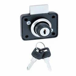 Spider Zinc Alloy Drawer Lock, BLACK POWDER COATED