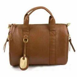 Brown Pu Leather Handbag