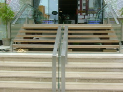 Outdoor Stainless Steel Glass Railing