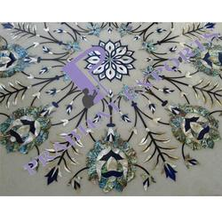 Marble Table Top with Mother of Pearl Inlay Work