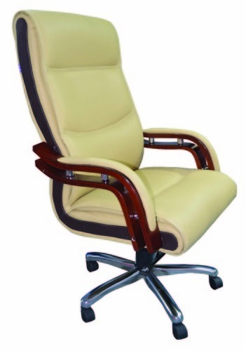 Green Leather Executive Office Chair
