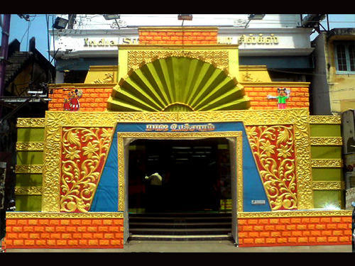 Cultural Design Decorative Items Ramyam Dream World Thanjavur New Pandal Design And Decoration