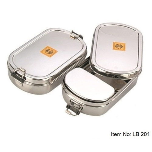 Stainless Steel Lunch Box Food Storage Boxes Containers Unique