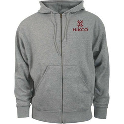 Grey Zipper  Hoodies