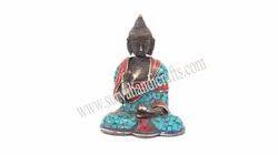 Brass Mini Buddha With Stone Work