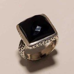 Solid Sterling Silver Black Onyx Gemstone Fine Spot
