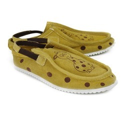 Yellow Leather Casual Shoes