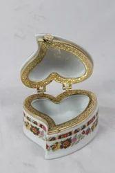 Imported Ceramic Heart Shape Box