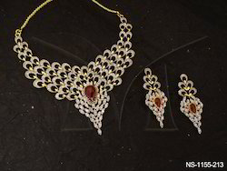 Polo Paan Multi Seeded AD Necklace Set