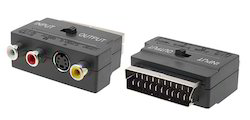 20 Pins Scart to 3 RCA Phono & SVHS TV Adapter Converter