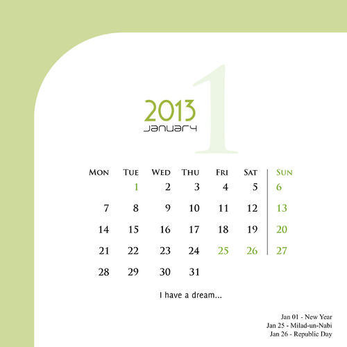 Wall Table Fashion Delicate Calendar Printing