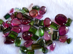 Price Of Tourmaline Crystal Stone Cut Gems Mix Color