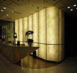 Marble Translucent Stone, Size: 8'x4', Thickness: 6mm