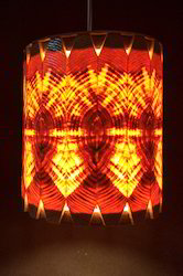 Cylindrical Wooden Hanging Lamp