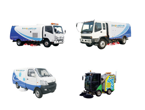 Specialty Machines Truck Mounted Road Sweeper