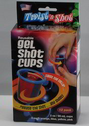 Kawachi 12 Pc Multi Color Freezable Shot Glass Cup
