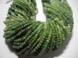 Chrysoprase Gemstone Faceted Rondelle 3-4mm Beads Strands