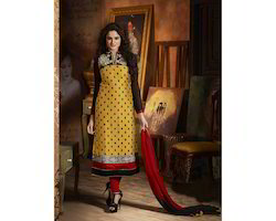 Exclusive Latest Heavy Designer Yellow Straight Suits