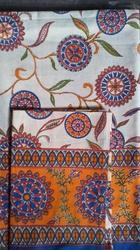 Bordered Printed Single Bedsheet