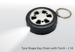Tyre Shape Key Chain With Torch