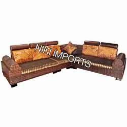 Box Corner Sofa Set - Fabric