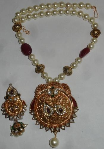 Indian gold kundan meena pendant set agarwal co jaipur id indian gold kundan meena pendant set aloadofball Images