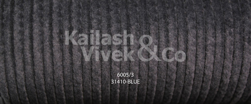 Structured Corduroy Blue Suiting Fabric