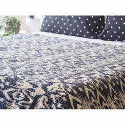 Queen Size Ikat Kantha Bed Cover