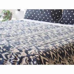Ikat Kantha Bed Cover