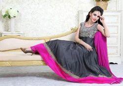 Ladies Designer Silk Dress
