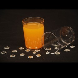 PS 7 Disposable Round Dessert Glass