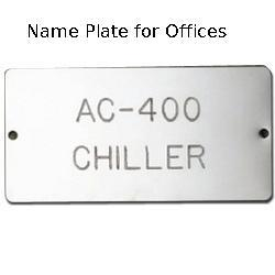 Name Plate for Commercial Purpose