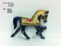 Meenakari Horse Statue