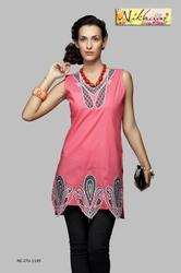 Beautiful Pink Designer Tunic Kurti Top Kurta