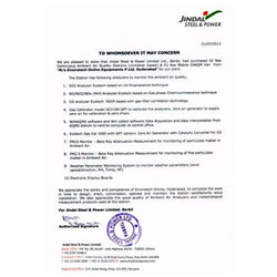 Jindal Steel & Power Certificate