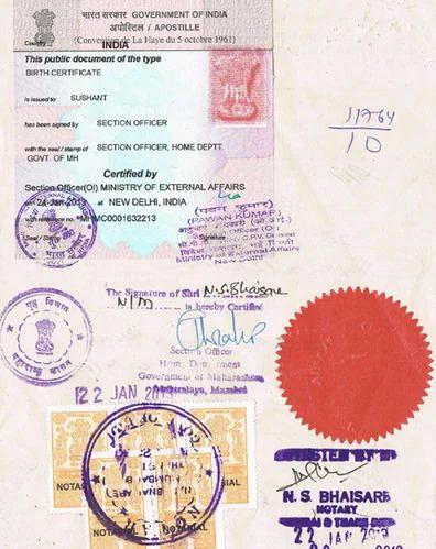 Birth Certificate Apostille Attestation Services in New Delhi ...