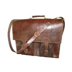 Handcrafted Brown Leather Bag