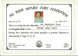 9. All India Nature Cure Federation Certificate