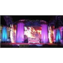 Decoration Stage Backdrop Setup, Nagpur
