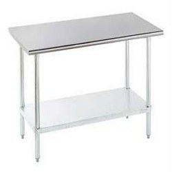 Stainless Steel Table With Under Self