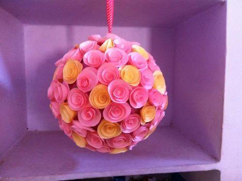 Rolled Paper Flowers Pomander Kagaz Ke Phool