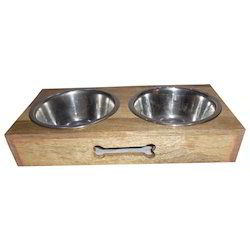 Wooden Double Diner Pet Feeder