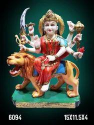 Handecor Multicolor Fibre Devi Statue, Model Number: 6094