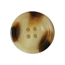 Plastic Brown Horn Button