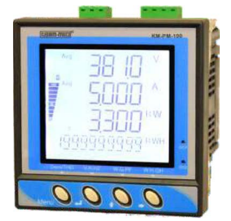 Digital Multifunction TRMS Power Meter KM PM 100, Input Frequency: 45 to 70Hz